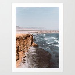 The end of the desert Art Print