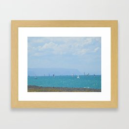 Sailboats on Hawke's Bay (New Zealand Collection) Framed Art Print