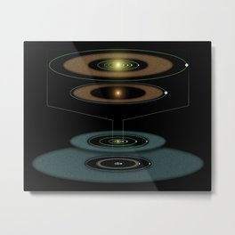 805. Young Solar System in the Making Artist Concept Metal Print