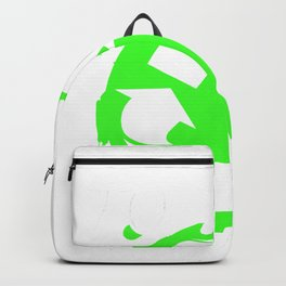 garbage man garbage collection garbage truck bin eco Backpack