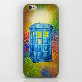 Inconspicuous Blue Police Box (Not a Tardis) iPhone Skin