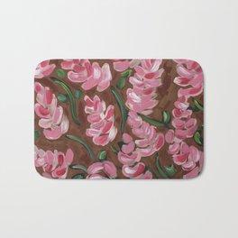 Pink Flowers Bath Mat