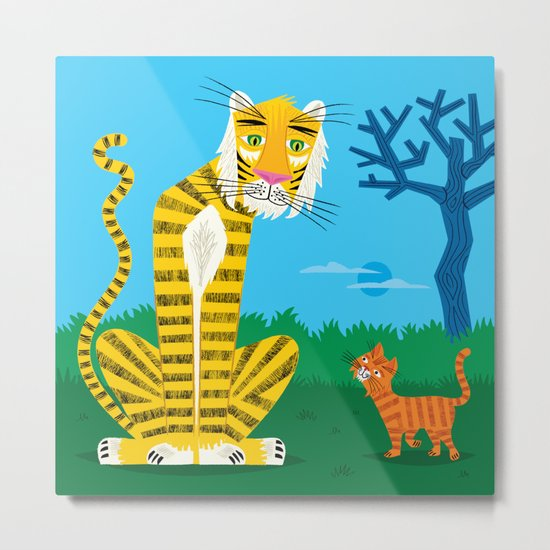 The Tiger and The Tom Cat Metal Print