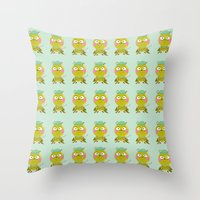 golf Throw Pillows featuring GOLF by Sucoco