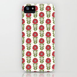 Dot Floral in Red iPhone Case