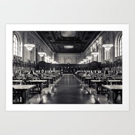The New York Public Library Rose Reading Room Art Print