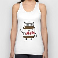 nutella Tank Tops featuring HAPPY NUTELLA IS HAPPY by Agustin Flowalistik