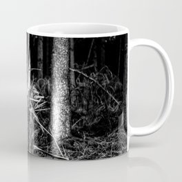 Fallen And Broken Trees After Storm Victoria February 2020 Möhne Forest 7 bw Coffee Mug