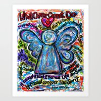 Colorful Cancer Angel Art Print