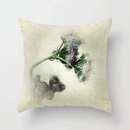 Praxelis Purple Wildflowers Throw Pillow