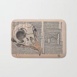 Book Page Art: Soundless Prayer Bath Mat