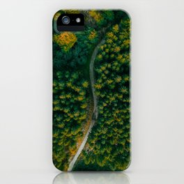 Aerial View of Scenic Pine Forest | Landscape Nature Photo Wallart Print from Czech Republic iPhone Case