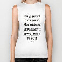 Express yourself! Biker Tank