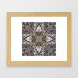 VeggieMandala Smoked Garlic 3 Framed Art Print