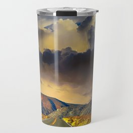 Country Road Scenic Moutnains Sunset Travel Mug