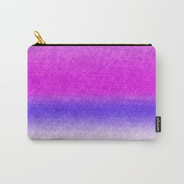 Abstract lilac blue pink geometrical ombre Carry-All Pouch