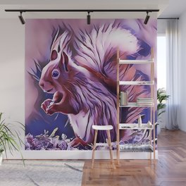 The American Red Pine Squirrel Wall Mural