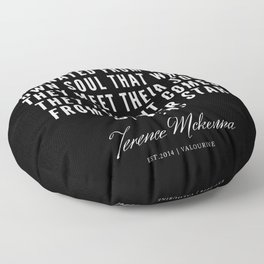 26 |  Terence Mckenna Quote 190516 Floor Pillow
