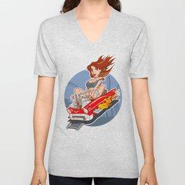 Rollercoaster Redhead Unisex V-Neck