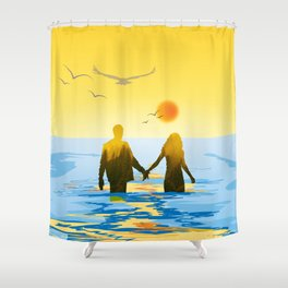 Together till the end Shower Curtain