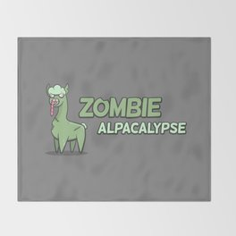 Zombie Alpacalypse Throw Blanket