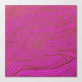 Wind Hot Pink Gold Canvas Print