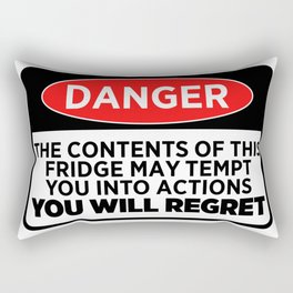Danger The Contents Of This Fridge Rectangular Pillow