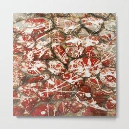 Red Paint Abstract Drip Stones AKA Pollock Metal Print