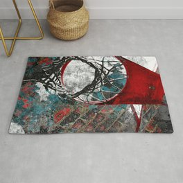 Basketball artwork 28 swoosh Rug