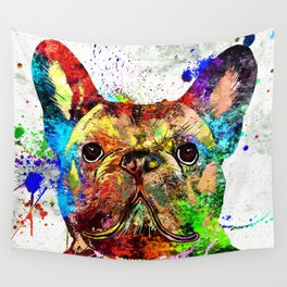 French Bulldog Grunge Wall Tapestry