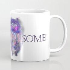 Insomnia. Purple owl with hot chocolate. Mug