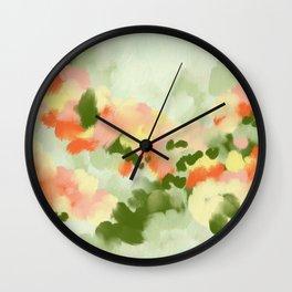Abstract painting Summer Vibes Wall Clock