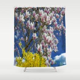 Magnolia and Forsythia 2 Shower Curtain