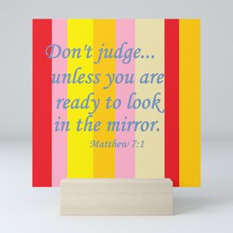Don't Judge! Mini Art Print