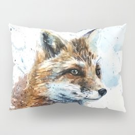 Fox watercolor Pillow Sham