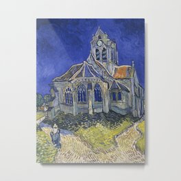 The Church in Auvers-sur-Oise, view from the Chevet Metal Print