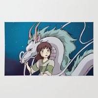 spirited away Area & Throw Rugs featuring Spirited Away by nellfoxface