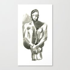 Figure, Seated Canvas Print