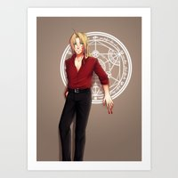 fullmetal alchemist Art Prints featuring Seal of an Alchemist by TEAM JUSTICE ink.