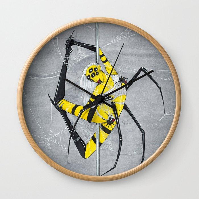 Poletober - Spider Wall Clock