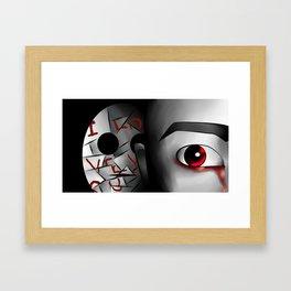 I Love You - Red Framed Art Print
