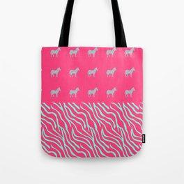 Pink zebra mix Tote Bag