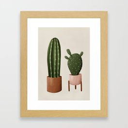Pair of Cactus Framed Art Print