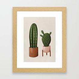 Pair of Cactus Framed Art Print