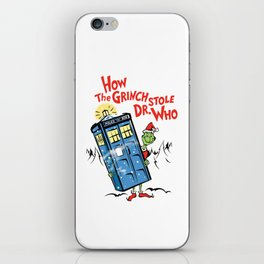 How the Grinch Stole Dr Who (on Light) iPhone Skin