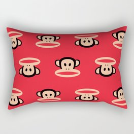 Julius Monkey Pattern by Paul Frank - Red Rectangular Pillow