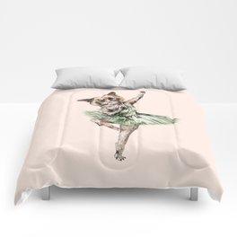Siamese Ballerina in Cat Ballet  Comforters