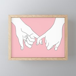 Pinky Promise 2 Framed Mini Art Print