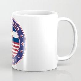 Colorado, Colorado t-shirt, Colorado sticker, circle, Colorado flag, white bg Coffee Mug