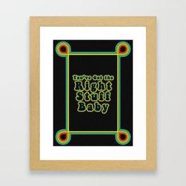 Retro Right Stuff Framed Art Print